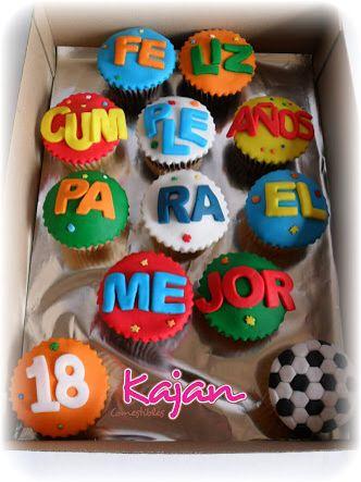 Ricos cupcakes para un novio