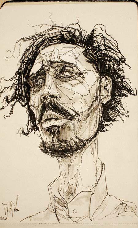 Line Drawing Famous Artists : Best continuous contour line portraits images on pinterest