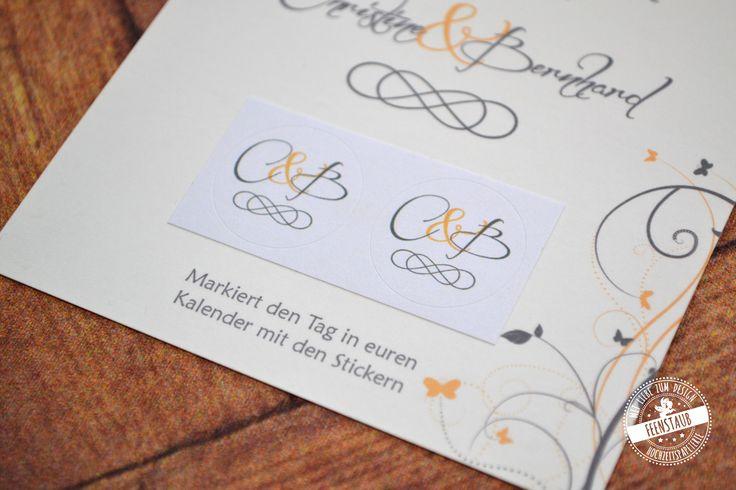 Haben alle Gäste schon den Tag markiert?!  #savethedate #feenstaub #sticker #kalender Save the Date - Feenstaub.at