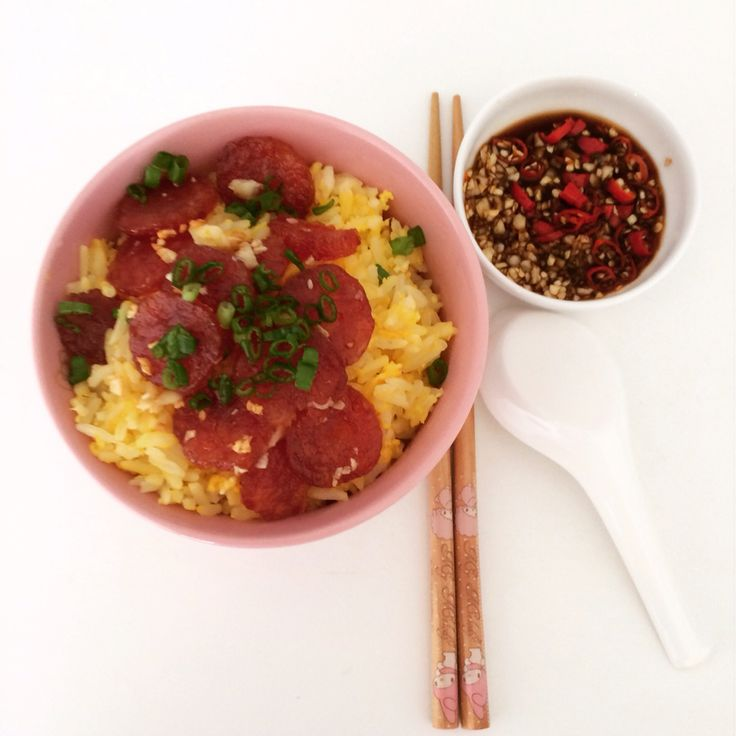 how to make chinese sausage rice