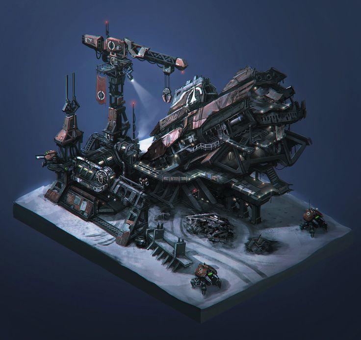 Atlas Wreck, Chris Chaproniere on ArtStation at https://www.artstation.com/artwork/atlas-wreck