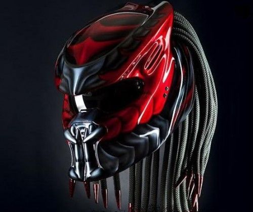 New Predator Helmet street fighter DOT Approved Details Color : Red We use full helmet DOT as its base and Resin Catalis great Fiber for Predator parts. Helmet come with Red Tri-Lamp (LED) with on-off switch. Size : S - M - L - XL  »To the manufacturing process Predator Helmets, finished Two weekly from the time of booking. (This is the estimate / estimate, so it is possible the process could be faster or slower)  »If the product ordered is finished, the goods will be shipped as soon as ...
