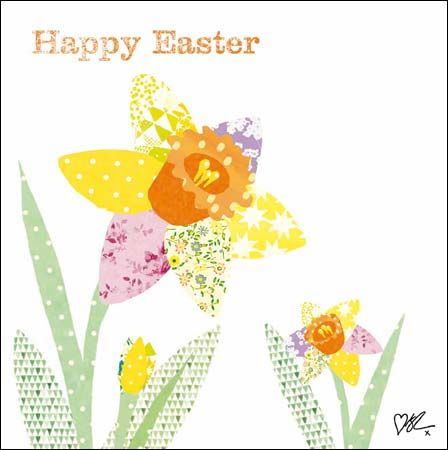Daffodil #Easter card by @kirstiemallsopp for Cardmix, finished with glitter varnish.