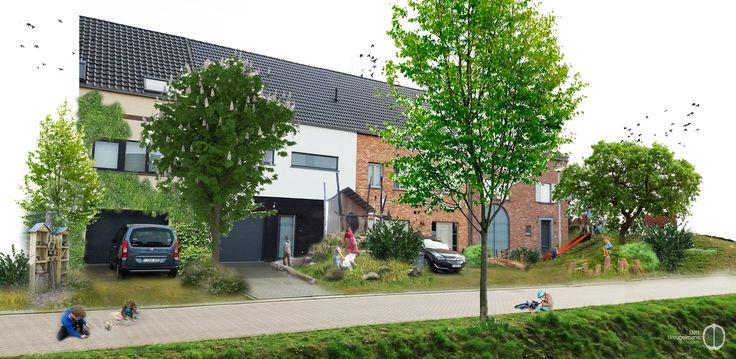 Privétuinen bedekken meer dan 8% van de Vlaamse oppervlakte. Omwille van het kleinschalig karakter vormt het geheel aan privétuinen een hefboom voor een duurzame samenleving in zowel ecologische, sociale, culturele en/of economische zin: klimaatsverandering, verlies aan biodiversiteit, sociale cohesie en bespeelbare groene ruimte… De Vlaamse voortuin zoals je hem zelden ziet: groen, avontuurlijk, bespeelbaar... (C) Bert Breugelmans - 2017 www.pinterest.com/bertbreugelmans
