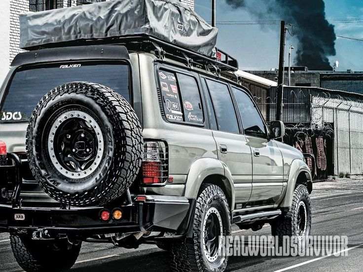Urban escape in a souped up 1994 Toyota Land Cruiser.