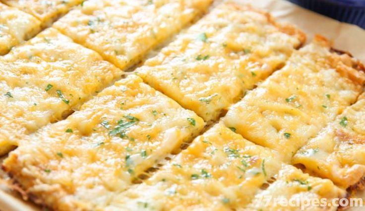 Cheesy Garlic Cauliflower Bread Sticks - Weight Watchers Recipes