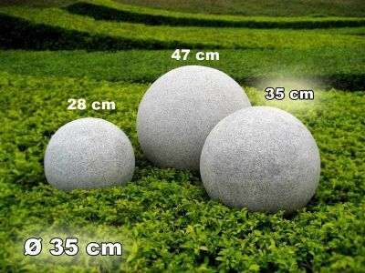 Ideal Kugelleuchte Gartenkugel GlowGranite cm Jetzt bestellen unter