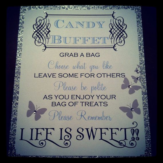 HARDCOPY-Candy Buffet Signs - Butterflies
