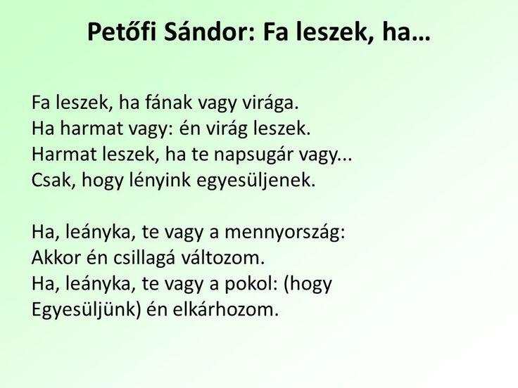Petőfi Sándor: Fa leszek, ha...