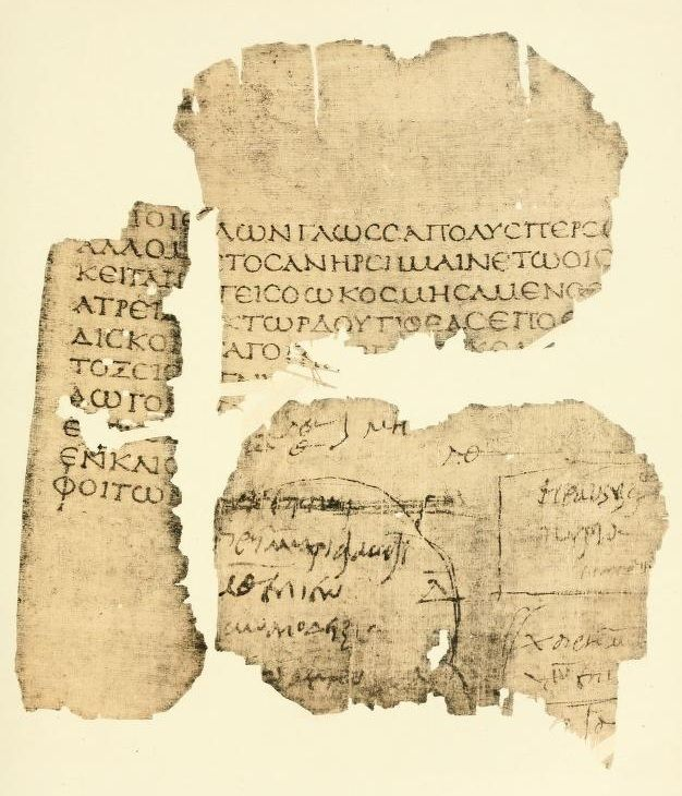2nd-century fragment of the second book of the Iliad. (Papyrus Oxyrhynchus 20, a Greek unical)