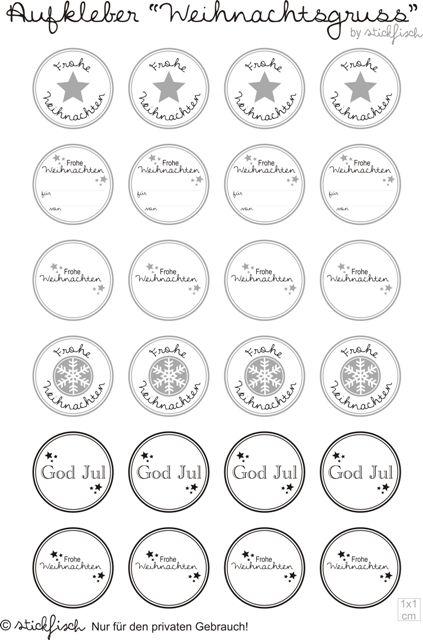 die besten 17 ideen zu weihnachtsetiketten auf pinterest. Black Bedroom Furniture Sets. Home Design Ideas