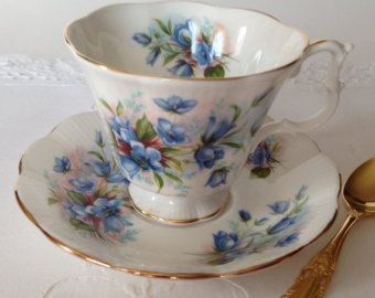 "Items similar to RESERVED FOR S Rare Royal Albert China Tea Cup & Saucer ""Portrait Series"" Avon Shape on Etsy"