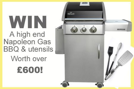 Win a Napoleon Grill and utensils worth over £600