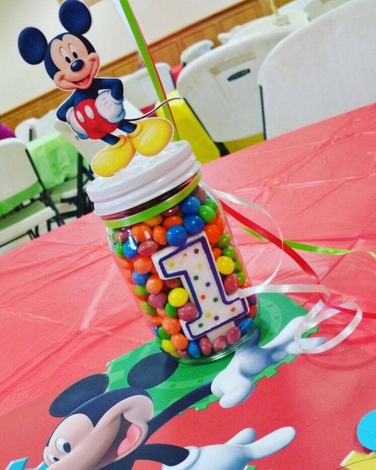 Mickey Mouse Clubhouse Theme Birthday Centerpiece!