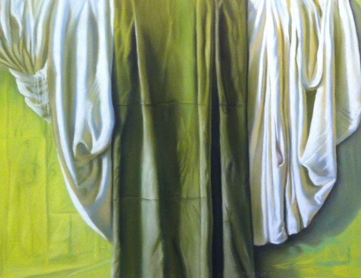 Seraphim (White, Yelow and Green) Obra de Claudio Bravo   Reproducción de Rafael Torres