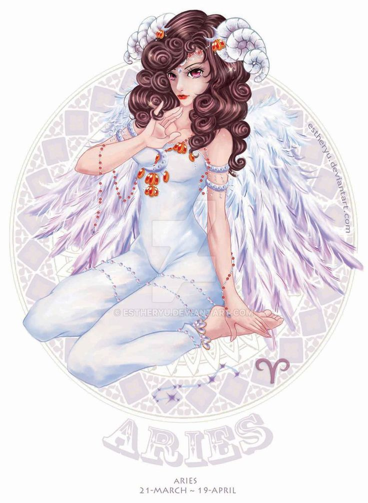 Aries♈_ Zodiac Aries Art || Zodiac Aries Female Character Illustration  || DeviantArt Estheryu