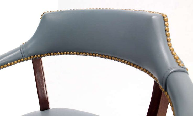 Pair Of High Quality Leather Upholstery Banker S Chairs