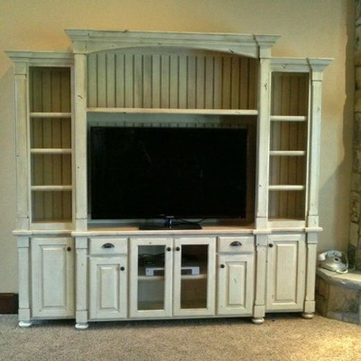White Entertainment Center Design Ideas, Pictures, Remodel, And Decor