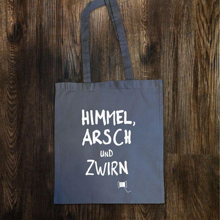 """Jutebeutel """"Himmel Arsch und Zwirn"""" // totebag by Heimspiel - Lauter Design via http://de.dawanda.com/shop/Heimspiel-Design"""