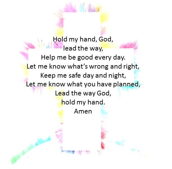 A small prayer I thought would be great for children to say every day!