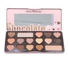 Ombretto pallete bacio bellezza marca make up palette matte cuore Ombra pigmento chocolate bar nudo pesca dolce di COLORE opaco(China)