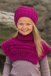 Yardage given is for both the hat and cowl.
