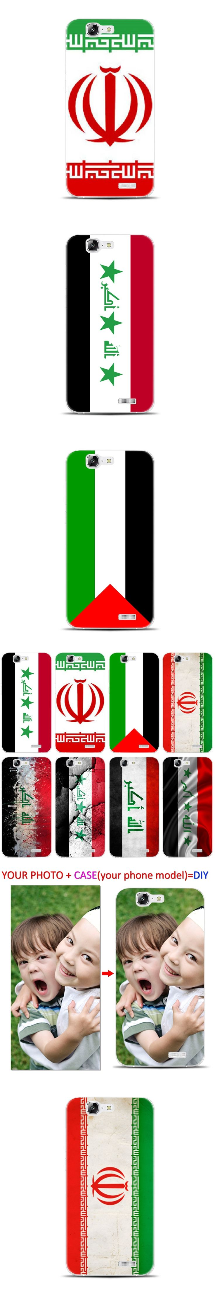 H096 Iraq Flag Transparent Hard Thin Skin Case Cover For Huawei P 6 7 8 9 10 Lite Plus Honor 6 7 8 4C 4X G7