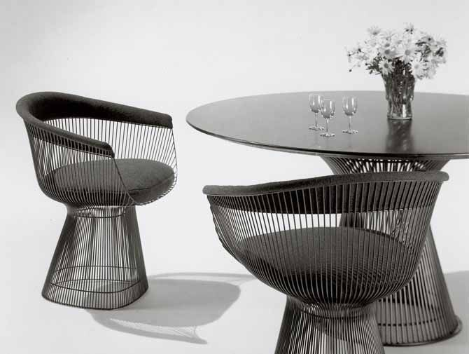 Warren Platner Captured The Decorative And Graceful Shapes That Were  Beginning To Infiltrate The Modern World With The Platner Arm Chair By  Welding Hundreds ...