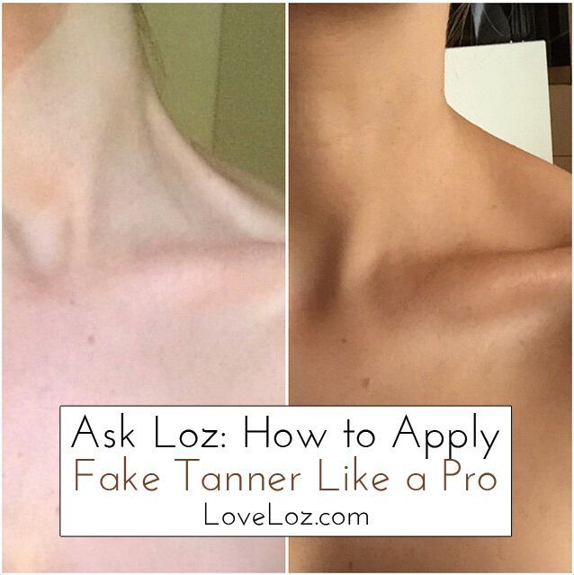How to Apply Fake Tanner Like a Pro // LoveLoz.com