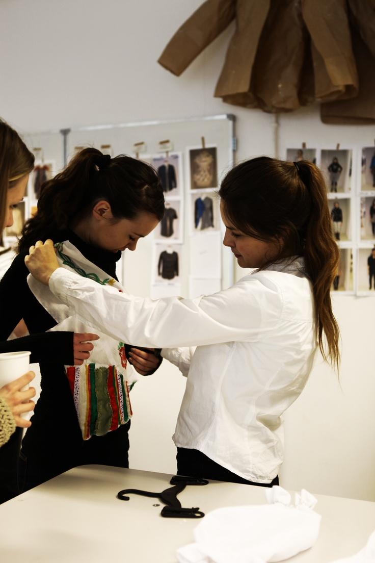 School of Form Fashion Show 2013 backstage #schoolofform fot. Patrycja Olszewska