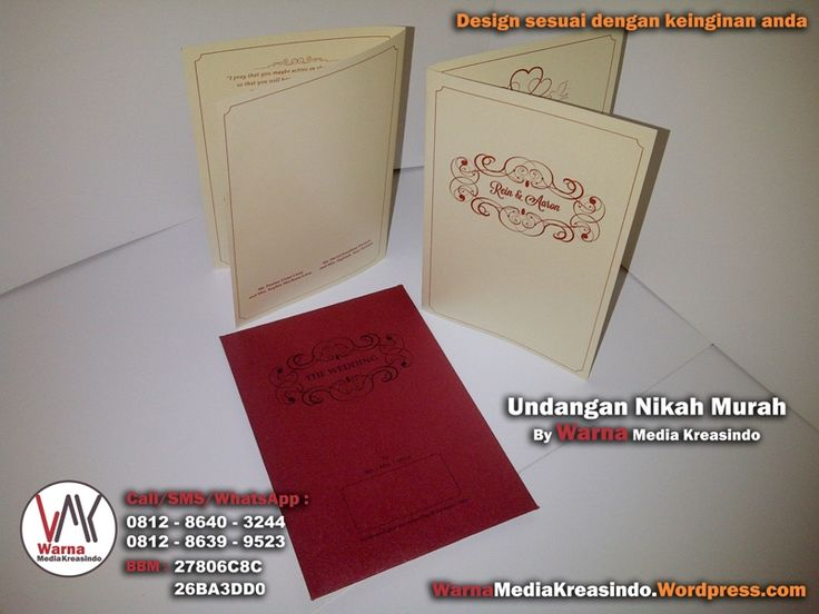 Undangan nikah simple elegan amplop maroon - whatsapp: 081286403244 website: warnamediakreasindo.wordpress.com #undangan #pernikahan #wedding #invitation #simple #elegant #jasmine #maroon