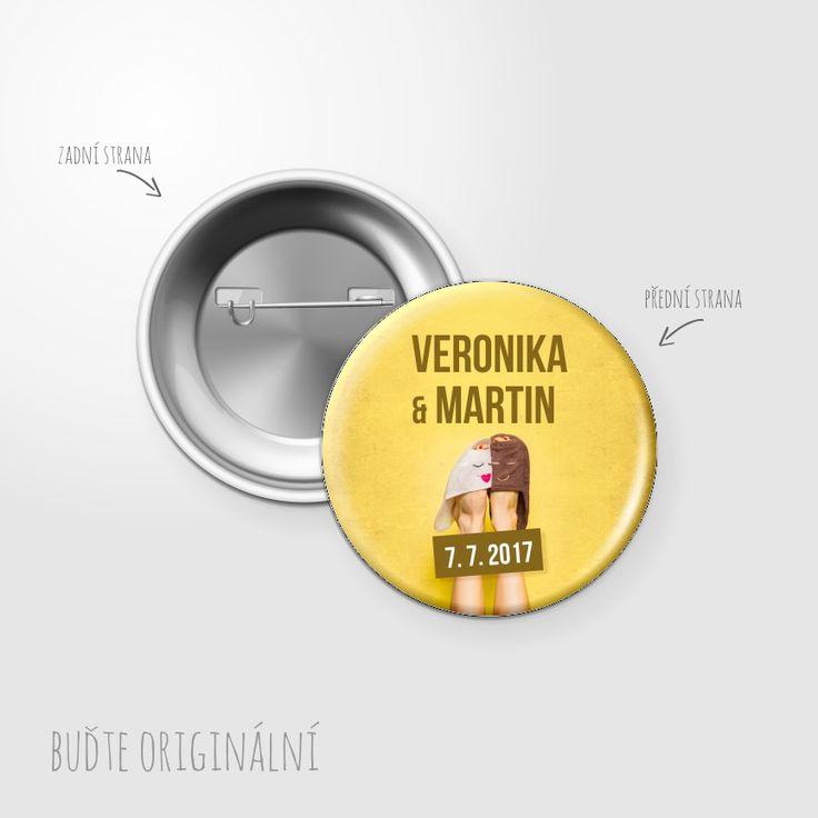 Svatební placka, button - 119 - Svatební oznámení