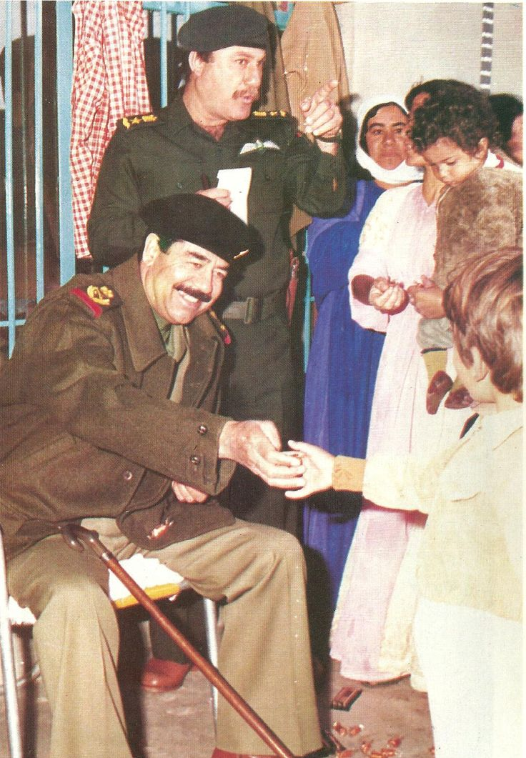In a visit to the role of one of the citizens Saddam