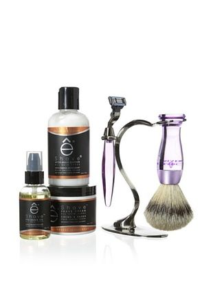 50% OFF eShave 5-Piece Collection with Stand in Orange Sandalwood Scent, Purple