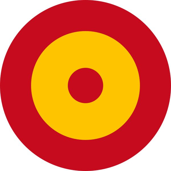 The red and yellow roundel of Spain's Ejercito del Aire