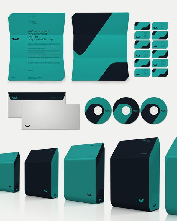 xWare corporate Identity | Designer: Sebastian Gram | #stationary #corporate #design #corporatedesign #logo #identity #branding #marketing