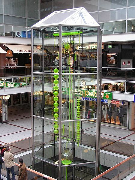 The water clock in Europa-Center, Berlin.