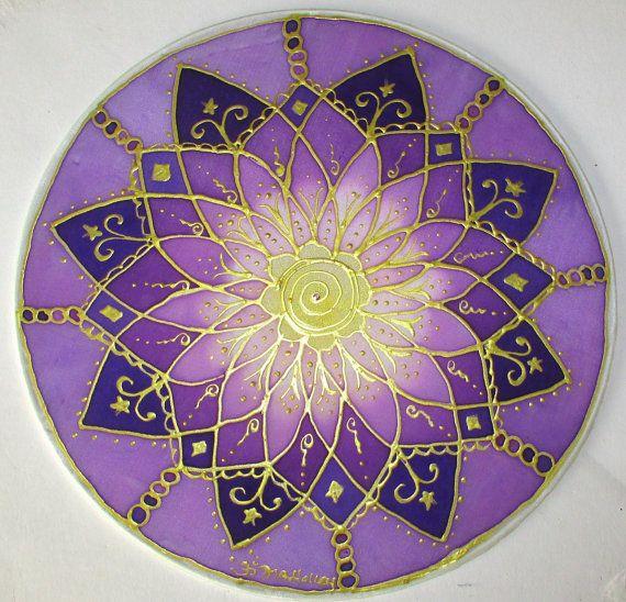 Crown chakra mandala, mandala art, chakra art, spiritual art, reiki art, New age art, meditation art, yoga art