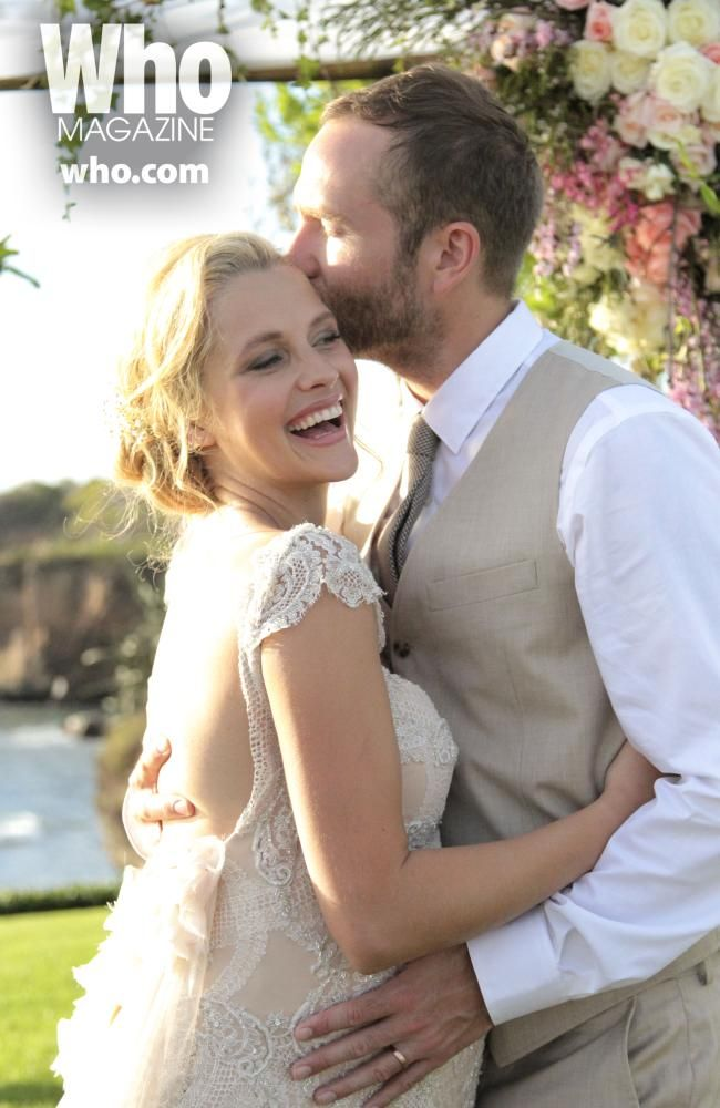 Teresa Palmer looked stunning on her wedding day with husband Mark Webber. Picture: WHO/ Gemma Pranita.
