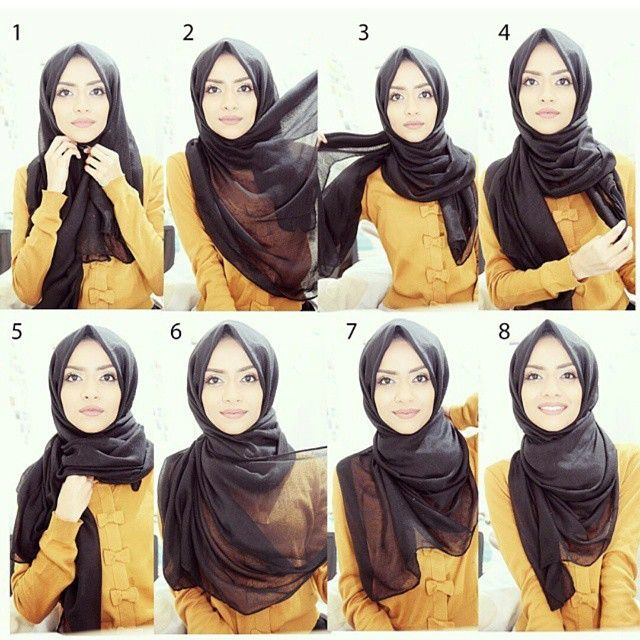 Another simple everyday Hijab tutorial by the beautiful @taslim_r inspired by…