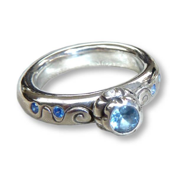Blue Wonder | ring | Art Styles jewelry | zilver | Studio Art Styles