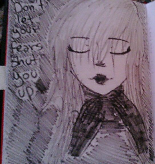 """""""Don't let your fears shut you up""""  That's the biggest problem of my whole life, eheh.  #girl #blackandwhite #fear #black"""