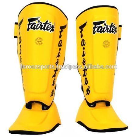 Fairtex Muay Thai Shin Pads Shin Guards Pro Genuine Leather/Artificial Leather