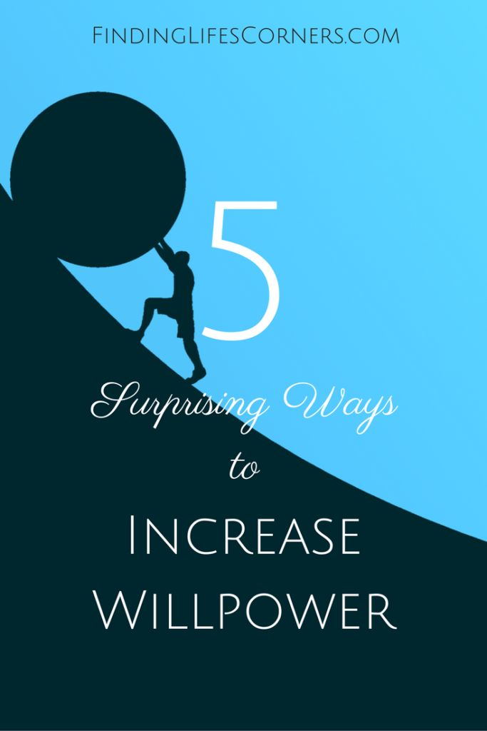 Increasing your willpower allows you to postpone short-term gains for long-term gains. How can you have more willpower? Find out at www.findinglifescorners.com