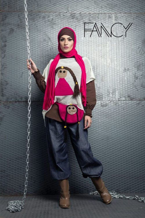 cute winter sweater hijab look, Winter poncho trends by fancy store http://www.justtrendygirls.com/winter-poncho-trends-by-fancy-store/