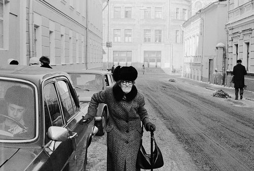 Moscow. Passerby, Griboyedov Street (1978)