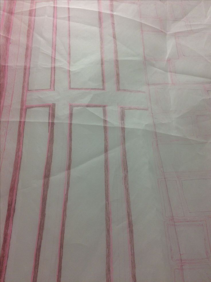16/1/17 I placed the silk organza fabric over the top of my wall drawing and l will draw over the lines with a felt tip pen. I am interested in creating layers and feel that he transparency in the fabric works well in creating an abstract illusion. The many creases in the fabric create further lines in different directions but i feel this does distract the viewers eye from the original drawing lines.