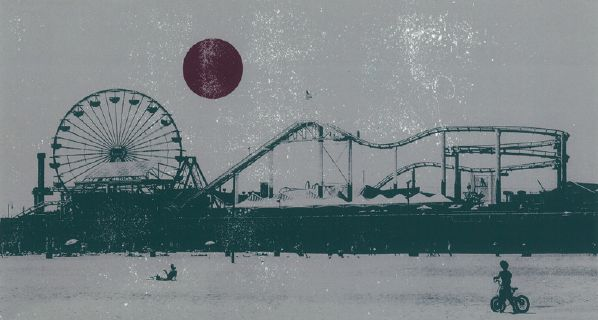 Santa Monica Pier screenprint - Shane O Driscoll