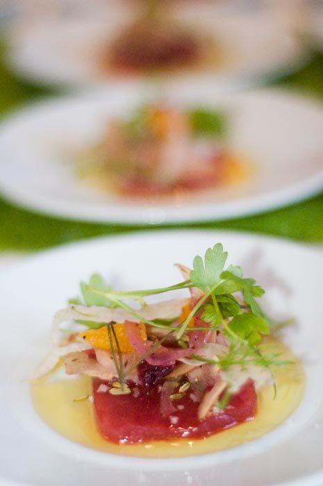 Ahi Tuna Crudo and Blood Orange, Fennel, and Pear Salad Chef Kristine ...