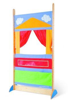 Teatro colorido para marionetas